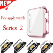 Plastic Protect Case for iWatch Series 2 38mm 42mm with Screen Protector Two-in-One Cover for Apple Watch 2 Case
