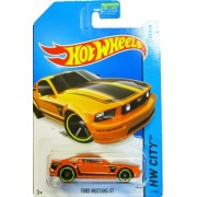 Hot Wheels - 2014 HW City 92/250 - Mustang 50 - Ford Mustang GT (orange) by Mattel