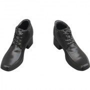 Imported Black Mens 1/6 Scale Lace Up Shoes For 12 Male Figure