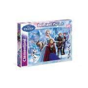Clementoni 20127 - Puzzle Brilliant Frozen, 104 Pezzi