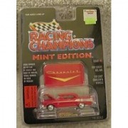 1957 RED CHEVY CHEVROLET BEL AIR -RACING CHAMPIONS MINT CONDITION DIE CAST EMBLEM & VEHICLE WITH DISPLAY STAND by Racing Champions