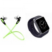 QWERTY Bluetooth Headset (Jogger Headset) And GT08 Smart Watch for LENOVO s890