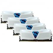 Memorie Geil Frost White Super Luce White 16GB (4x4GB) DDR4 3000MHz 1.35V CL16 Quad Channel Kit White/White, GLWW416GB3000C16QC