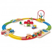 Hape Rainbow Route Railway and Station Set E3816
