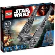 Конструктор Лего Стар Уорс - Командната совалка на Кайло Рен - LEGO Star Wars, 75104