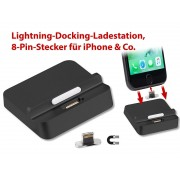 Lightning-Docking-Ladestation, magnet. 8-Pin-Stecker für iPhone & Co.