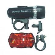 Luzes de Bicicleta Frente Bike Light / Luz traseira da bicicleta LED Fácil Transporte 100 Lumens Bateria Outros Preto / Vermelho Ciclismo-