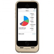 mophie Space Pack Battery Case for Apple iPhone 5/5S with 1700mAh Extra Battery Life and 16GB Built-in Storage - Gold