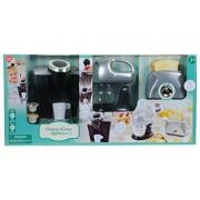 Play Go Pretend Play Gourmet Kitchen Appliance Set Single Serve Coffee Maker, Mixer & Toaster, 3 Piece
