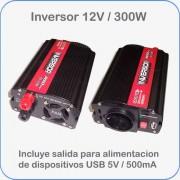 Inversor / convertidor de 12V DC a 220V AC potencia 300W