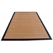 Bamboo Natural tappeto listelli stretti ecopelle varie misure.