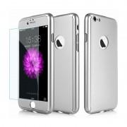 Husa Iphone 7 Full Cover 360 Silver (Gaura Logo)
