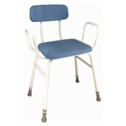 Aidapt Astral Perching Stool with Arms and Padded Back