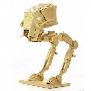 DIY 3D Puzzle modelo de laton Montado ATST juguete educativo - Golden