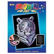 """KSG 1217 - Album """"Sequin Art"""", motivo: Tigre delle nevi"""