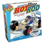 Small World Toys Creative - Construct-A-Hot Rod Metal Construction Set