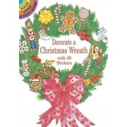 Decorate a Christmas Wreath with 39 Stickers by Cathy Beylon