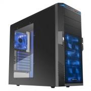 Sharkoon T9 Value Midi-Tower Nero, Blu