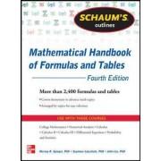 Schaum's Outline of Mathematical Handbook of Formulas and Tables by Seymour Lipschutz