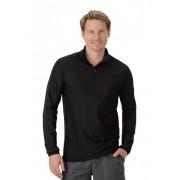 Trigema Herren Langarm Sport-Shirt Größe: S Material: 92 % Polyester, 8 % Elastan Farbe: schwarz