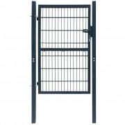 vidaXL Градинска врата (единична) 106 х 210 см, сив антрацит