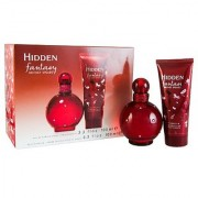 Britney Spears Fantasy HidDen Gift Set (Eau De Parfum Spray Body Lotion)