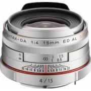 Obiectiv Foto Pentax-Ricoh 15mm f4 DA ED HD AL Limited Silver
