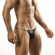 Joe Snyder G String 02 Mesh Black Underwear & Swimwear