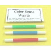 Magical Set of 3 Color Sense Wands Red, Green & Blue Magic Trick for Magicians