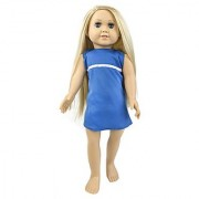 Springfield Collection by Fibre-Craft - Abby Doll Blue Eyes And Blonde Hair- Fits All 18-Inch Dolls - Mix and Match - For Ages 4 and Up