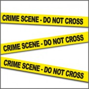"CSI Kit - Nastro ""Crime Scene Do NOT cross"" Scena del crimine - 20 metri"