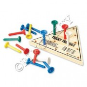Board & Travel Games - WOODEN TRIANGLE GAME
