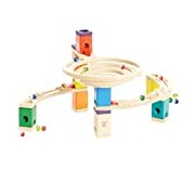 Hape Quadrilla Wooden Marble Run Builder-Roundabout-High Quality Wooden Safe Play-Smart play for Smart Family-Quality Time Playing Together