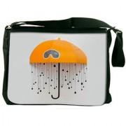 Battery Animated Designer Laptop Messenger Bag