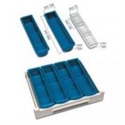 divisorio - 3 scomparti - per carrelli farmacia