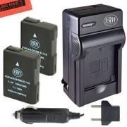 BM Premium 2-Pack of ENEL14 EN-EL14 EN-EL14A Battery and Charger for Nikon Coolpix P7000 P7100 P7700 P7800 D3100 D3200 D3300 D5100 D5200 D5300 D5500 DF Digital SLR Camera