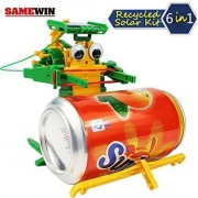 The Wolf Moon 6 In 1 Super Solar Power Recycler Robot Science Kit Educational Toy For Kids Up To 99 Years