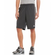 adidas 3-Stripe Shorts Black Dark Grey Heather