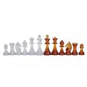 Piese de șah din plastic STAUNTON nr 6 chihlimbar