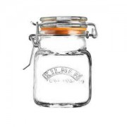 Kilner 70ml Clear Glass Mini Clip Top Storage Jar