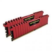 Corsair CMK8GX4M2A2133C13R Vengeance LPX 8GB (2x4GB) DDR4 2133Mhz CL13 Mémoire pour ordinateur de bureau haute performance avec profil XMP 2.0. Rouge