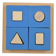 Skillofun Wooden Exploring Fractions - Square, Multi Color