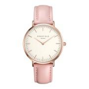 Rosefield The Bowery White Pink Rose Gold horloge BWPR-B7