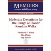 Moderate Deviations for the Range of Planar Random Walks by Richard F. Bass