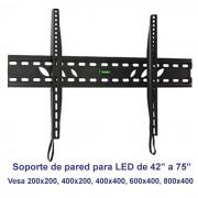 "Soporte de pared fijo modelo SSP-314N para pantallas de 42"" a 75"""