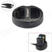 Chargeur de batterie LP-E6 Kingma 2-Slot USB pour Canon EOS 5D Mark III / 6D / 7D Mark II / 7D / 70D / 60 / 60Da