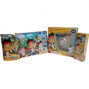 Jake and the Never Land Pirates Activity Bundle with Memory Game Pop-up Game Wooden Puzzle and Bag Puzzle 4 Items
