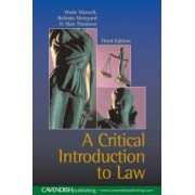 Critical Introduction to Law by Wade Mansell