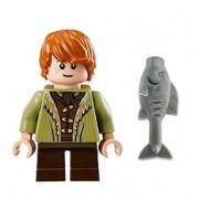 Lego Bane Son of Bard Mini Figure- Hobbit Battle of Five Armies - w/ fish
