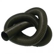 Rubber-Cal 'Urethane Flex' (Medium Duty) Material Handling Hoses - 8' ID x 5ft Length Hose - Black (Fully Stretched)
